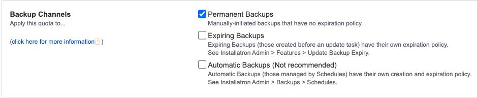 Backup channels
